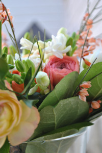 a hand tied bouquet