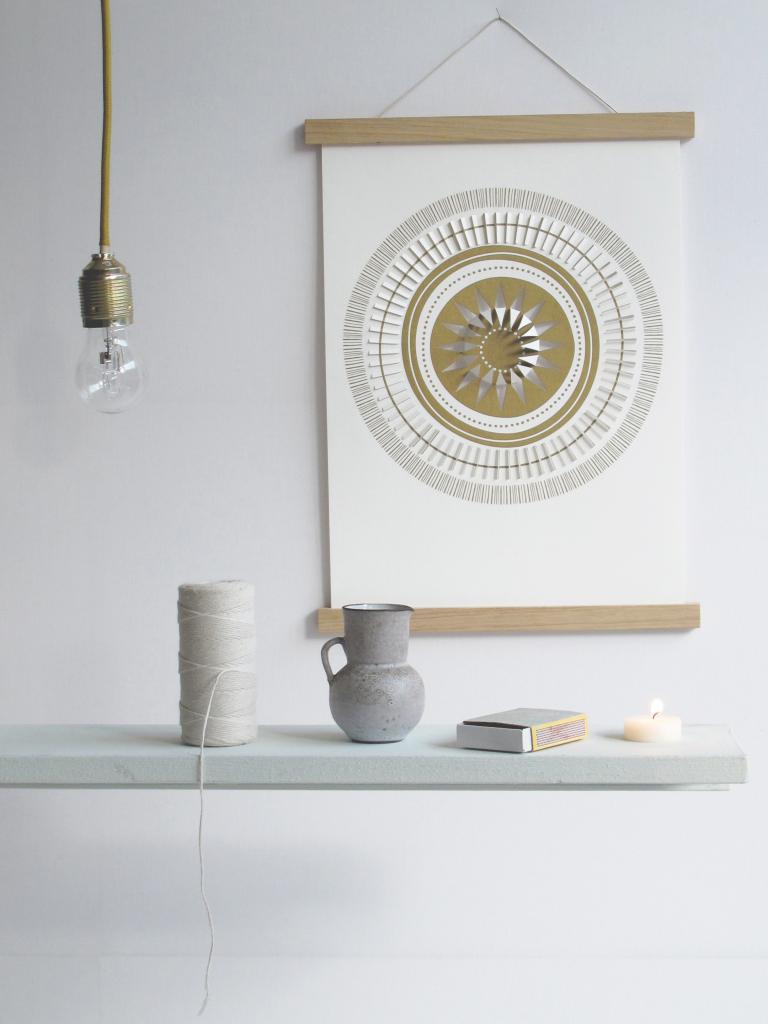 SUN-wall-portrait