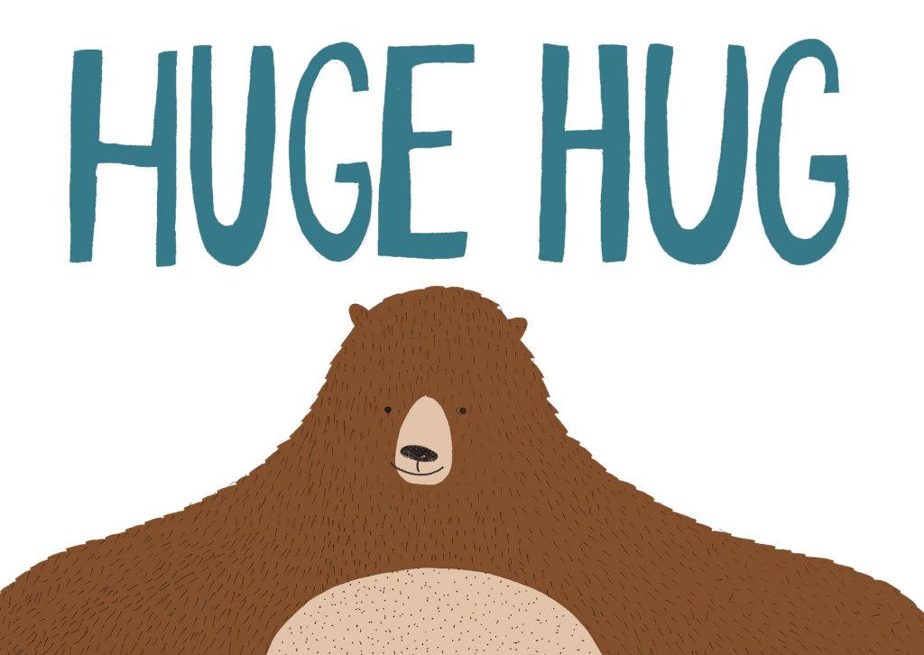 Kaart huge hug door Imke Verhoef