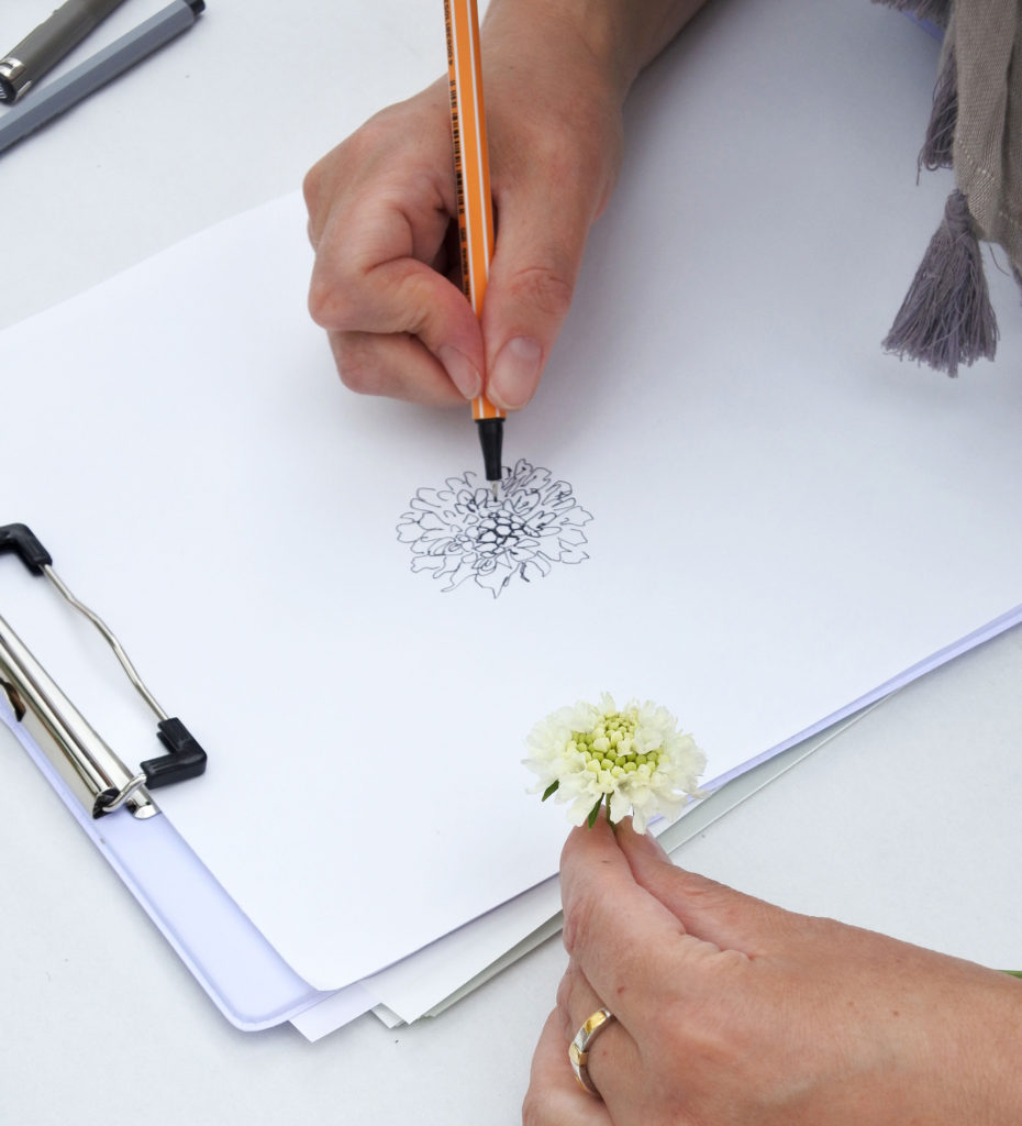 Workshop bloemen illustreren door Maartje van den Noort