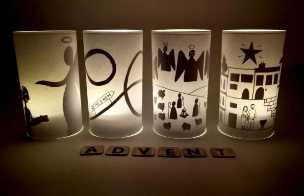 Advent lampjes door Imke Verhoef